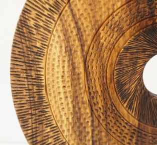 Turned wooden sculptures